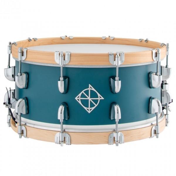 Dixon Drums 14 x 6.5'' Cornerstone Maple & Poplar w/Maple Hoops, Teal