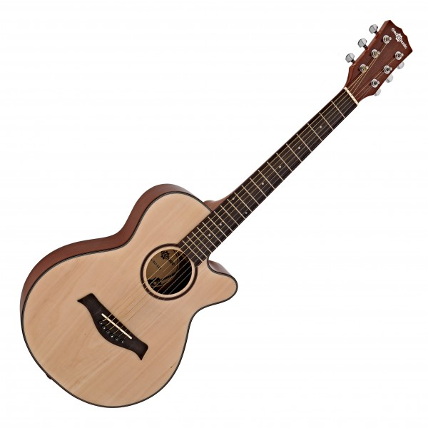 3/4 Single Cutaway Acoustic Travel Guitar by Gear4music