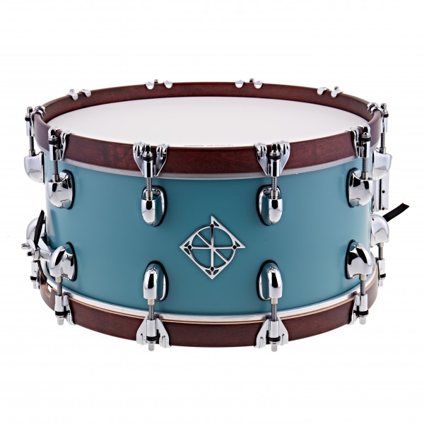 Dixon Drums 14 x 6.5'' Cornerstone Satin Quetzal Blue w/Maple Hoops