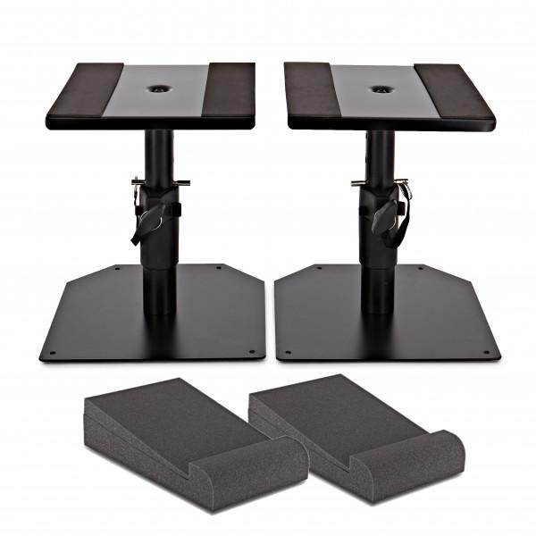 Desktop Speaker Stands plus AcouFoam Isolation Pads by Gear4music