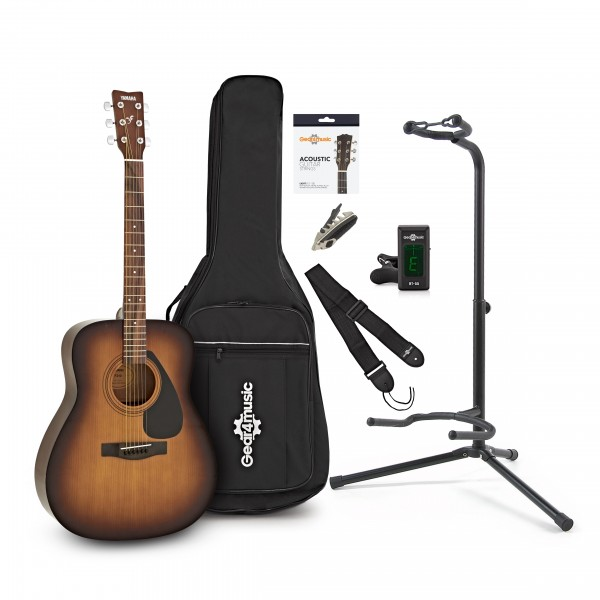 Yamaha F310 Acoustic, Sunburst w/ Gear4music Accessory Pack
