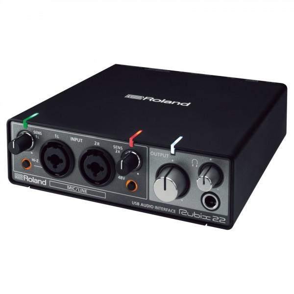 Roland Rubix22 USB Audio Interface - Angled