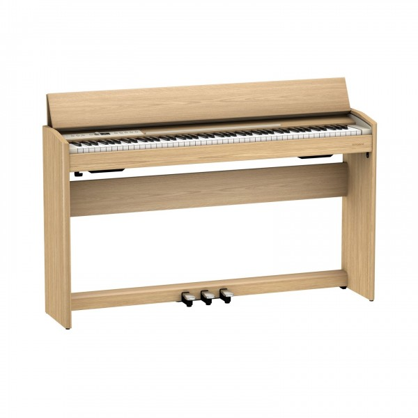 Roland F701 Digital Piano, Light Oak