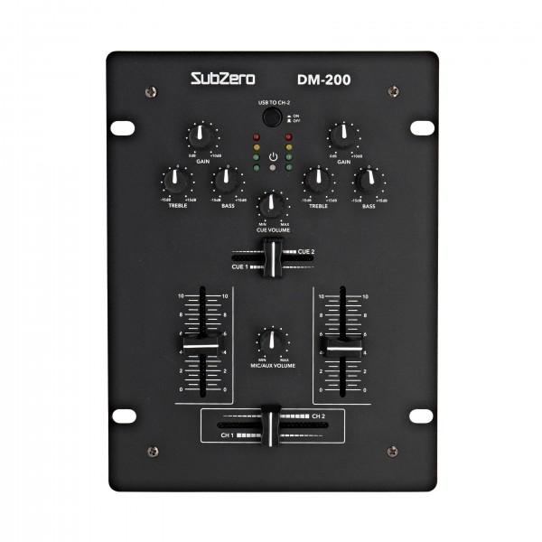 SubZero DM-200 2 Channel DJ Mixer with USB