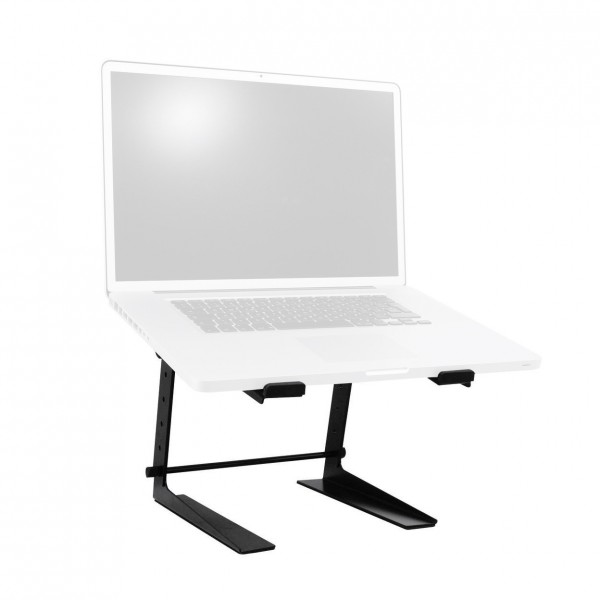 Omnitronic ELR-12/17 Laptop Stand - Front with Laptop
