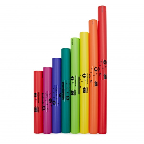 Boomwhackers Tuned Percussion Tubes C Major Diatonic Scale Set (8)