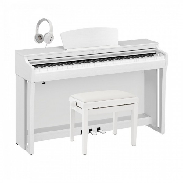 Yamaha CLP 725 Digital Piano Package, Satin White