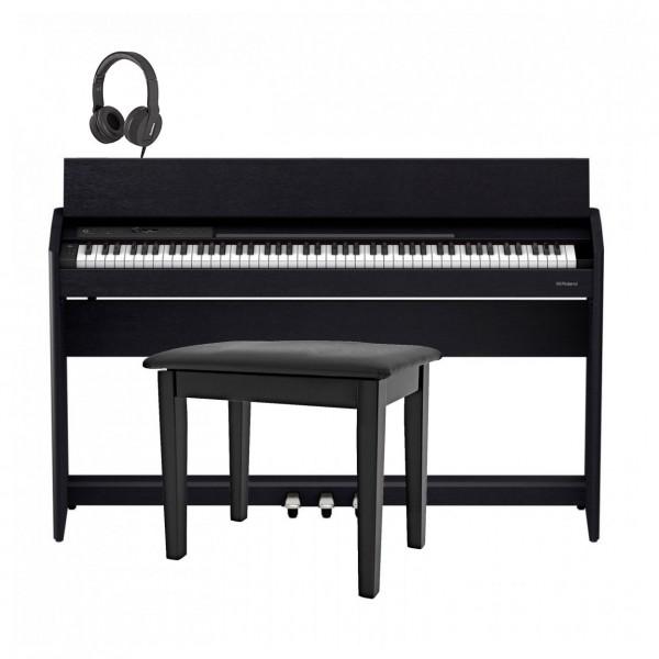 Roland F701 Digital Piano Package, Contemporary Black