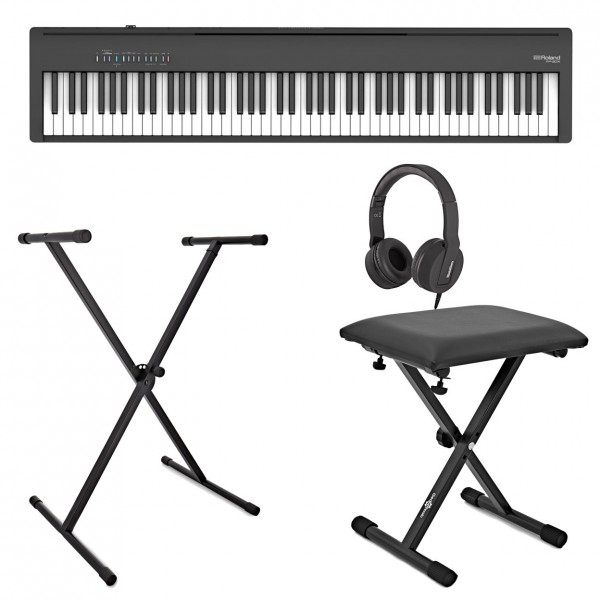 Roland FP-30X Digital Piano with Stand, Stool and Headphones, Black