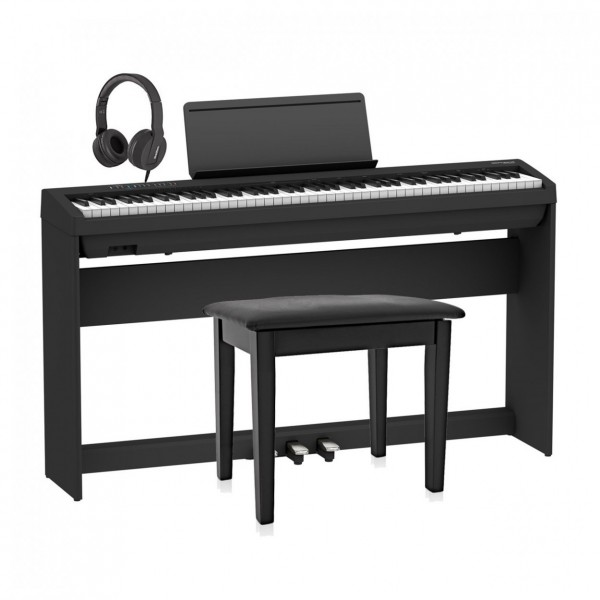 Roland FP-30X Home Piano Bundle, Black