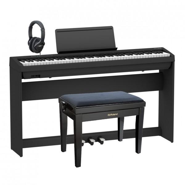 Roland FP-30X Home Piano Premium Bundle, Black