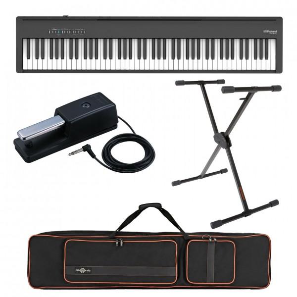 Roland FP-30X Digital Piano Live Performance Bundle, Black