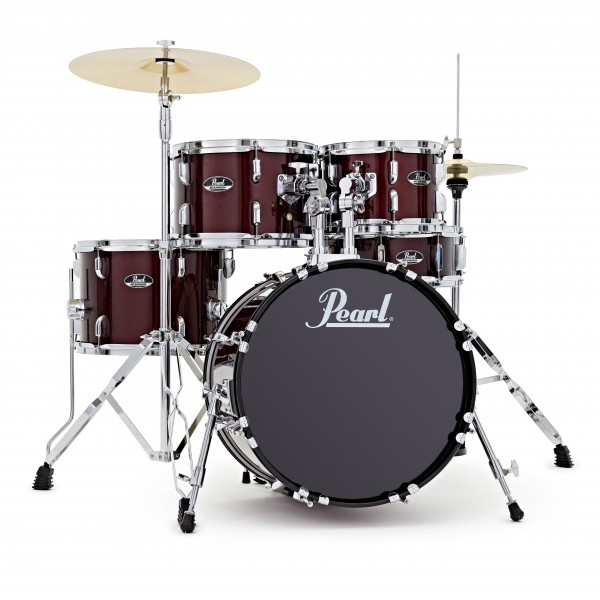 Pearl Roadshow 5pc Compact Drum Kit, Red Wine