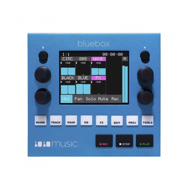 1010music Bluebox Compact Digital Mixer and Recorder - Top View