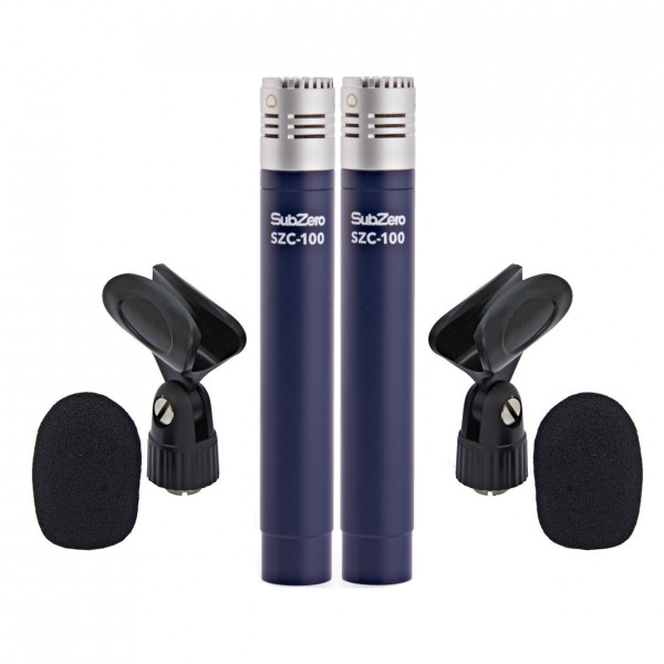 SubZero SZC-100 Pencil Condenser Microphone, Pair