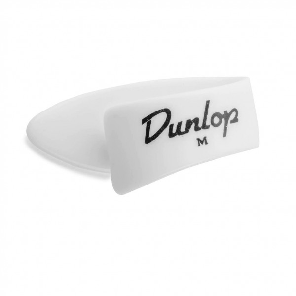 Dunlop Thumbpick Medium White - Front View