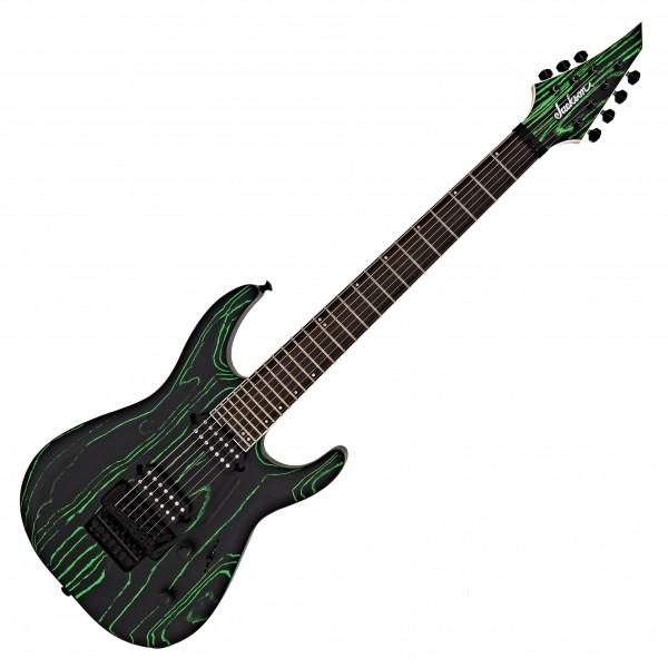 Jackson Pro Dinky Modern Ash FR7, Black & Green
