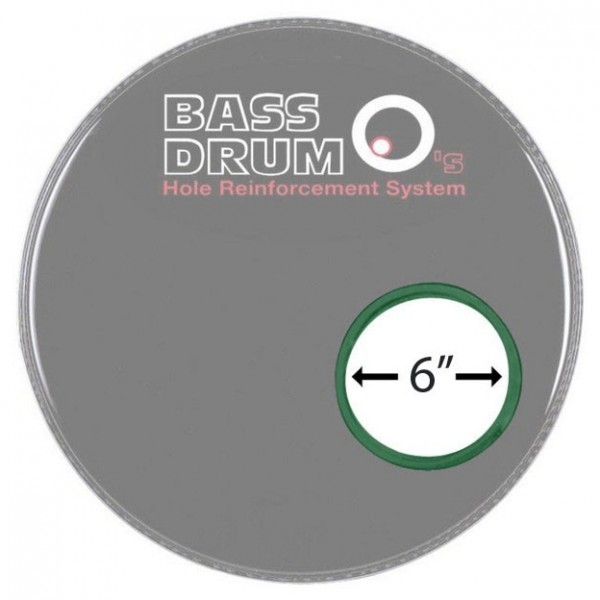 Bass Drum O's Sound Hole Ring Green 6''
