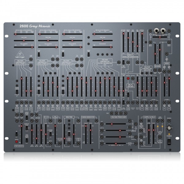 Behringer 2600 Analog Synthesizer, Gray Meanie - Top