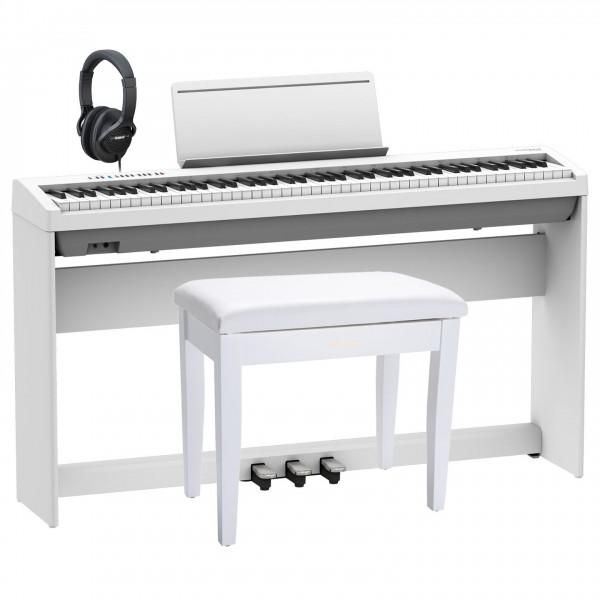 Roland FP-30X Home Piano Premium Bundle, White