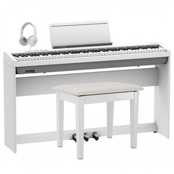 Roland FP-30X Home Piano Bundle, White