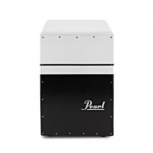 Pearl BRUSH BEAT Boom Box Cajon with Ported Chamber, Black and White