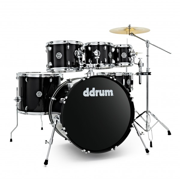 DDrum D2 22'' 6pc Drum Kit, Midnight Black
