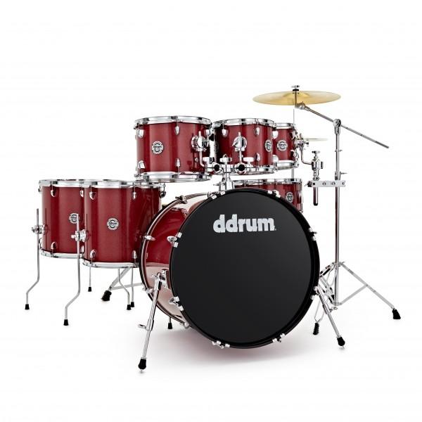 DDrum D2 22'' 7pc Drum Kit, Red Sparkle