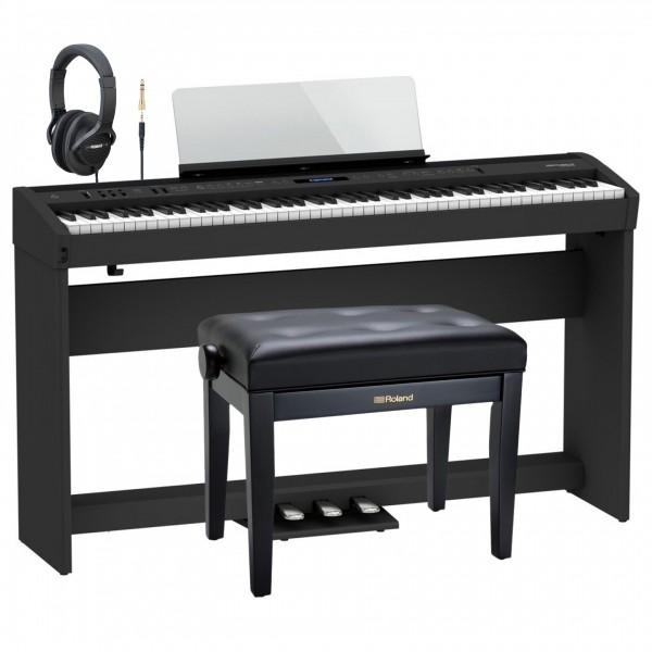 Roland FP-60X Home Piano Premium Bundle, Black