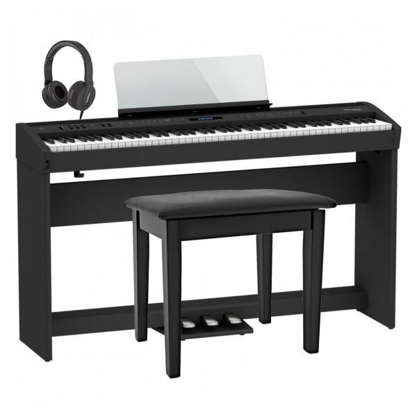 Roland FP-60X Home Piano Bundle, Black