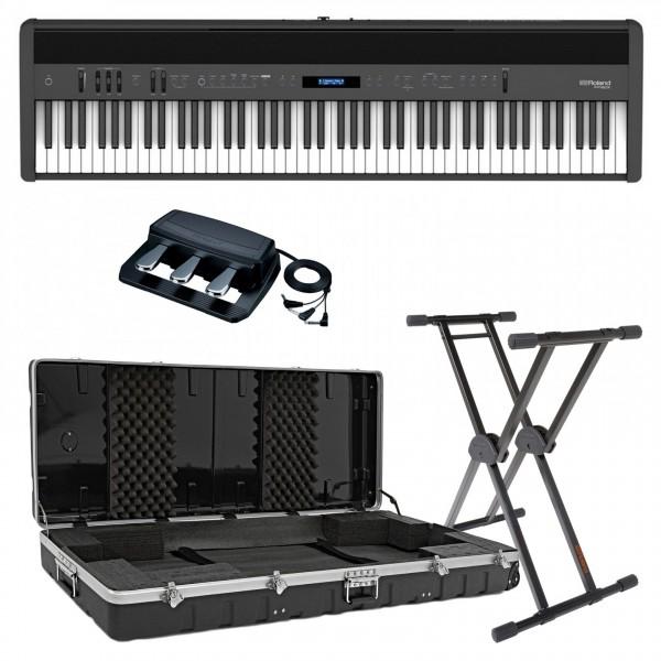 Roland FP-60X Digital Piano Live Performance Bundle, Black