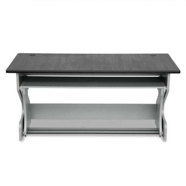 Zaor Miza Z Flex Studio Desk, Grey Wenge - Front