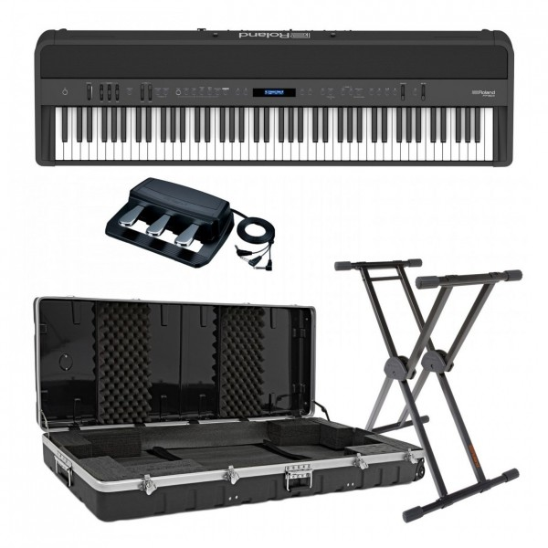 Roland FP-90X Digital Piano Live Performance Bundle, Black