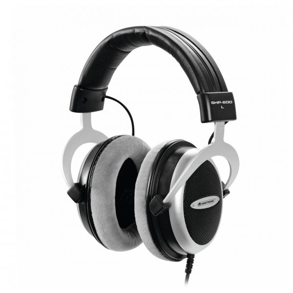 Omnitronic SHP-600 Hi-Fi Stereo Headphones - Front Angled Left