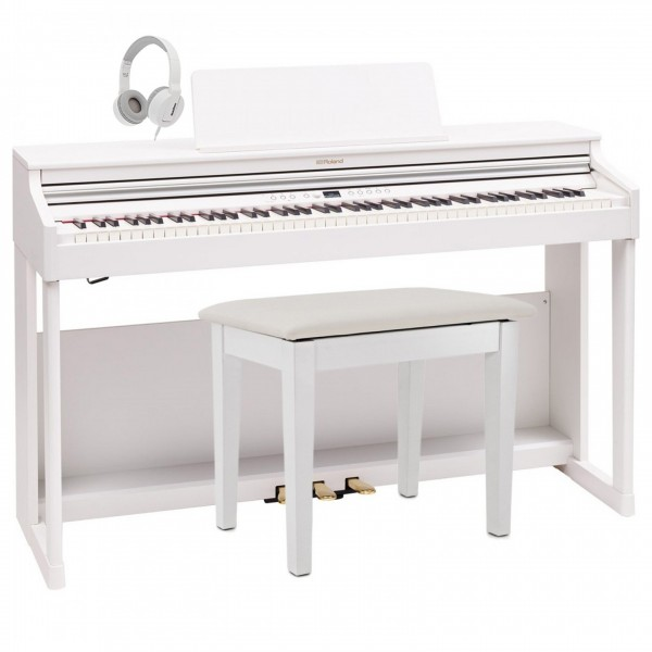 Roland RP701 Digital Piano Package, White