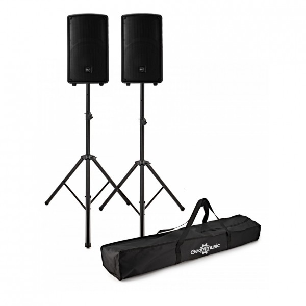 RCF HD 12-A MK4 12'' Active Speakers, Pair with Stands - Full Package