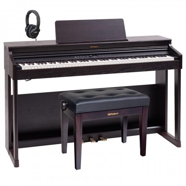 Roland RP701 Digital Piano Premium Bundle, Dark Rosewood