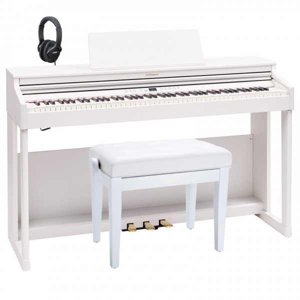 Roland RP701 Digital Piano Premium Bundle, White