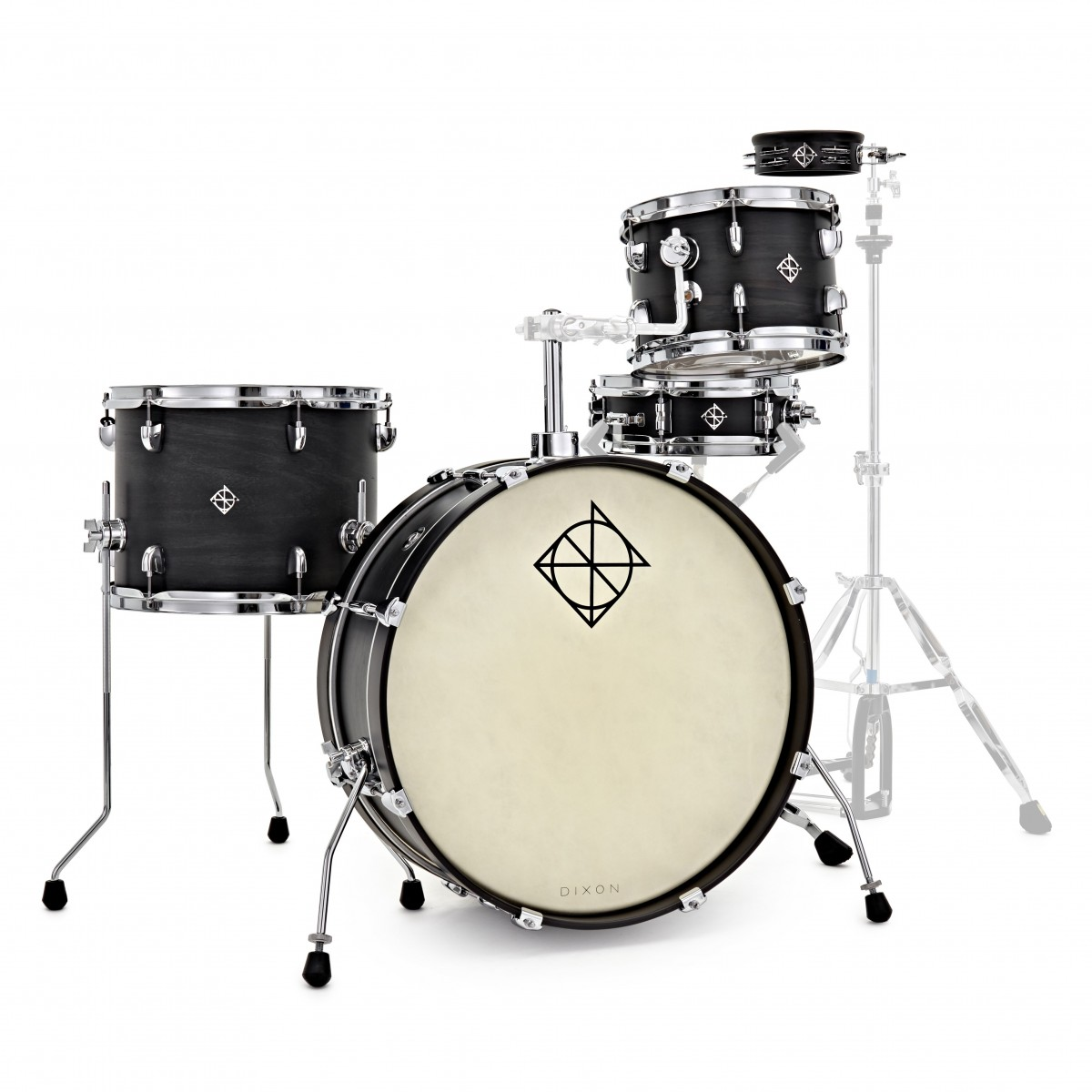 Dixon Drums 'Little Roomer' 20'' 5pc Shell Pack, Black Coal