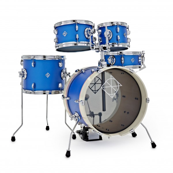 Dixon Drums Jet Set Plus 5pc Shell Pack, Street Play Blue