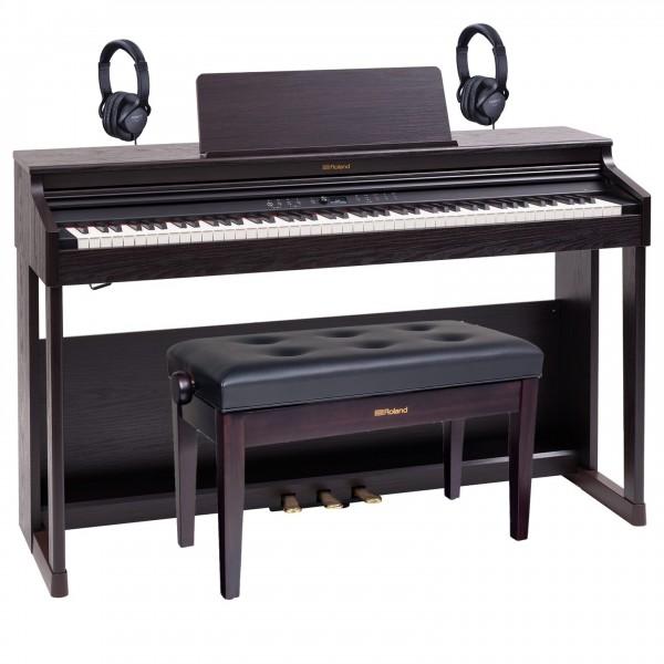 Roland RP701 Digital Piano Duet Bundle, Dark Rosewood