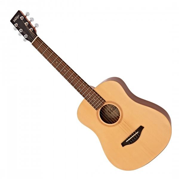 Vintage Travel Guitar Left Handed w/ Bag, Natural