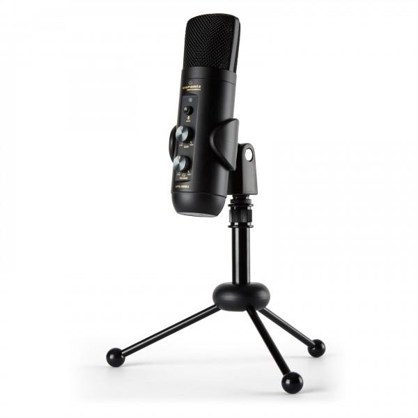 Marantz MPM4000U USB Microphone - Angled with Tripod