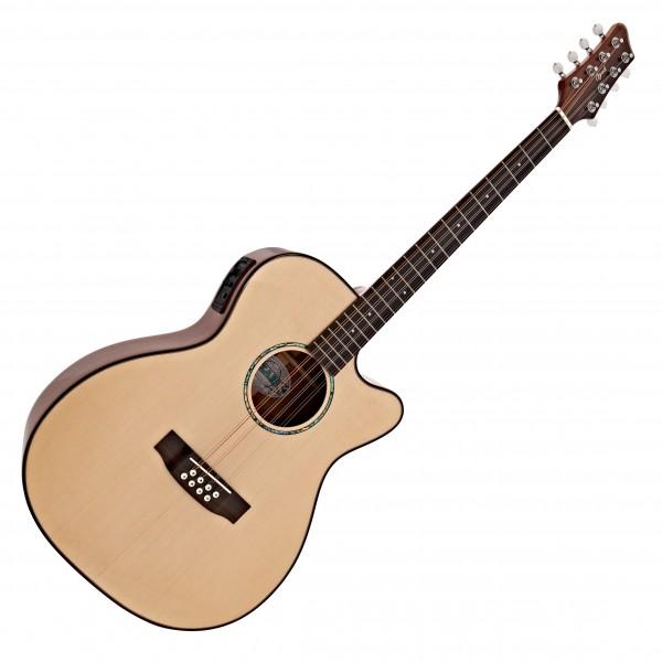 Ozark 2246 Bouzouki Electro Acoustic Guitar, Natural