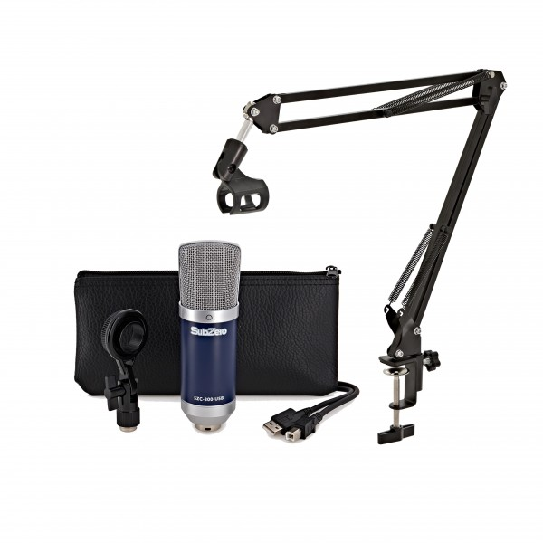 SZC-300 USB Condenser Microphone with Microphone Arm