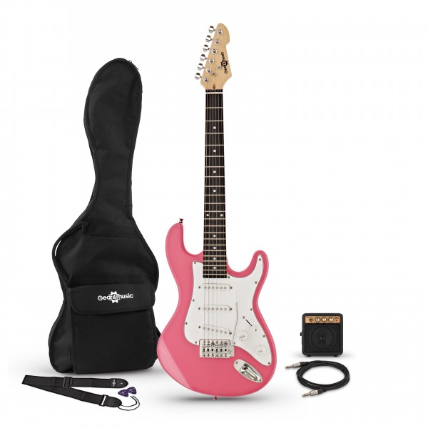 3/4 LA Electric Guitar + Miniamp, Pink