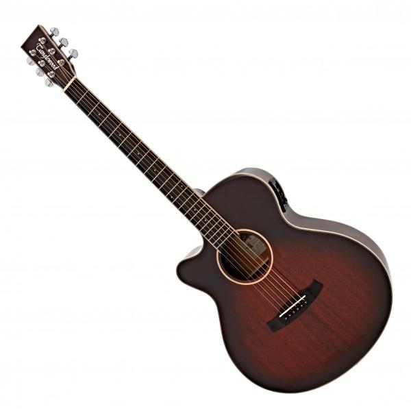Tanglewood TW4-E-LH Super Folk Electro Acoustic, Antique Violin Burst