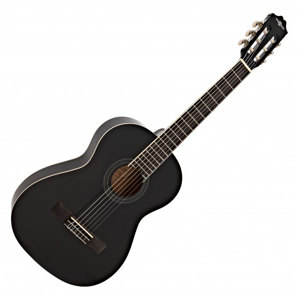 Deluxe 3/4 Classical Guitar, Black, by Gear4music