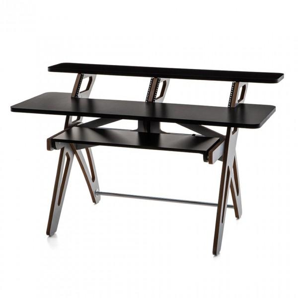 Zaor Yesk 2 Studio Desk, Black/Grey - Front View
