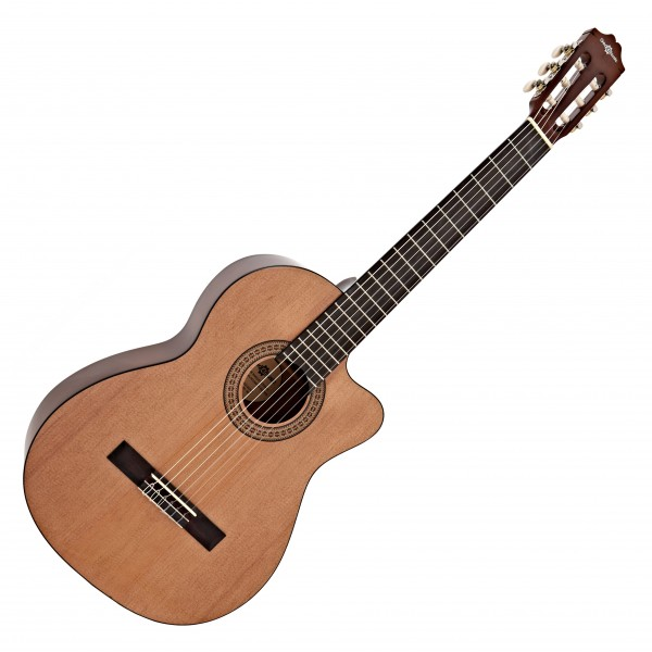Deluxe Single Cutaway Classical Acoustic Guitar by Gear4music